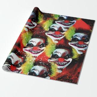Horror-Clowncollage Halloweens creepy schlechte Geschenkpapier