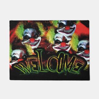 Horror-Clowncollage Halloweens creepy schlechte Türmatte