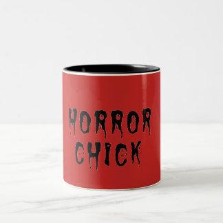 Horrorküken-Tasse Zweifarbige Tasse