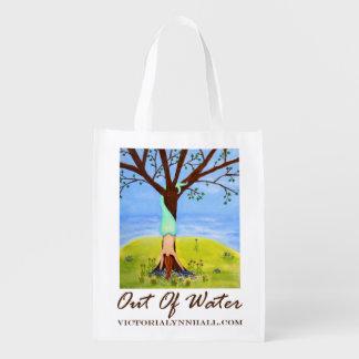 Hors de la valeur promotionnelle d'art de sirène d sacs d'épicerie réutilisables