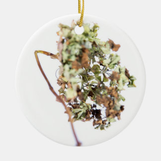 Hortensienmedaillon Keramik Ornament