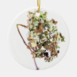Hortensienmedaillon Rundes Keramik Ornament