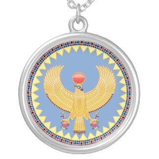 Horus, der Gott von Königen in altes Halskette Mit Rundem Anhänger