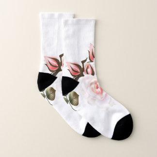 Hosen mit Rosenrosaweiß Socken