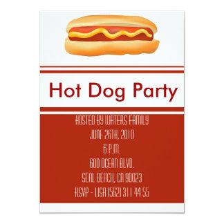Hotdog-Party Einladung
