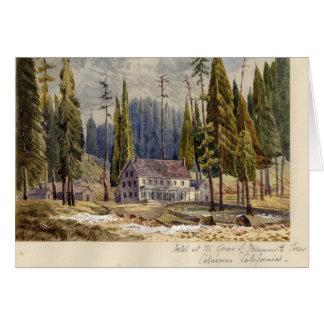Hotel an der Waldung von Mamoth Bäumen Karte