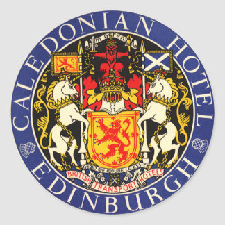 Hôtel calédonien Edimbourg Ecosse de voyage Sticker Rond