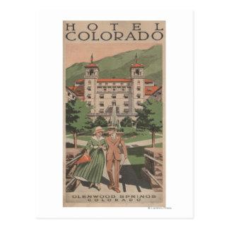 Hotel-Colorado-Reise-Plakat Postkarte