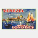 Hôtel De Londres (Venezia Italie) Sticker Rectangulaire