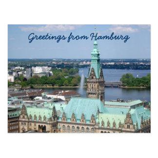 Hôtel de ville de Hambourg Cartes Postales