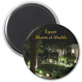 Hotel im Sharm el-Sheikh Runder Magnet 5,7 Cm