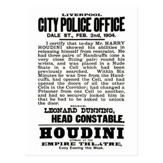 Houdini in Liverpool-Postkarte Postkarte