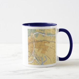 Houma, Louisiana-Navigations-Hafen-Diagramm-Tasse Tasse