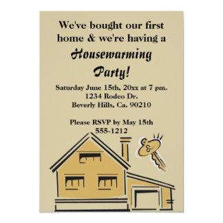 Housewarming-Party-Haus u. Schlüssel Karte
