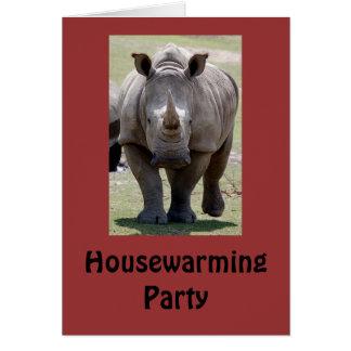 Housewarming-Partyrhino-Einladung Karte