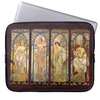 Housse Pour Ordinateur Portable Alphonse Mucha, The Times du jour