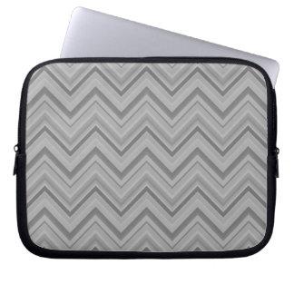 Housse Pour Ordinateur Portable Le gris barre le motif de zigzag
