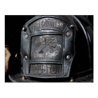 Houston-Feuerwehrmann-Postkarte Postkarte