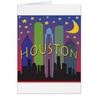Houston-Skyline-Nachtleben Grußkarte