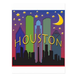 Houston-Skyline-Nachtleben Postkarte