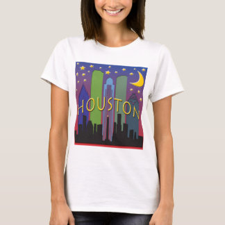 Houston-Skyline-Nachtleben T-Shirt