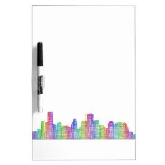 Houston-Stadt-Skyline Memoboard