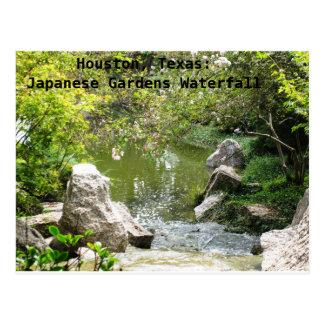 Houston, Texas: Japaner arbeitet Wasserfall im Postkarte