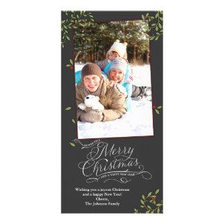 Houx de Joyeux Noël Carte Avec Photo