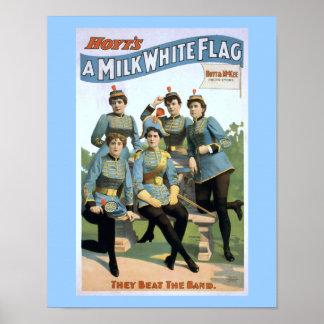 Hoyts ein Milch-weiße Flaggen-Vintages