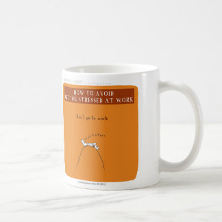 "HP5066 Avoid betont bei der Arbeit ""Harold Planet Kaffeetasse"