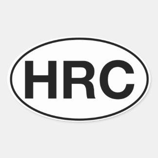 HRC - Ovale Aufkleber, Matt Ovaler Aufkleber