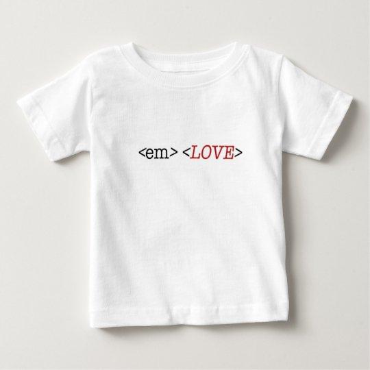 HTML-Codekleidungs-Babyt-shirt Baby T-shirt