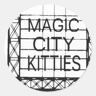 http://www.zazzle.com/magiccitykitties runder aufkleber