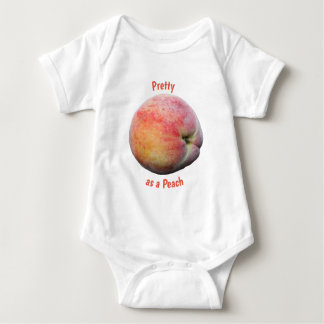 Hübsch als Pfirsich Baby Strampler