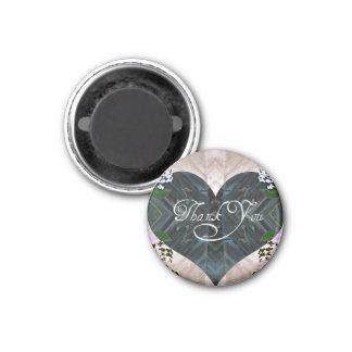 Hübsch danke runder magnet 2,5 cm