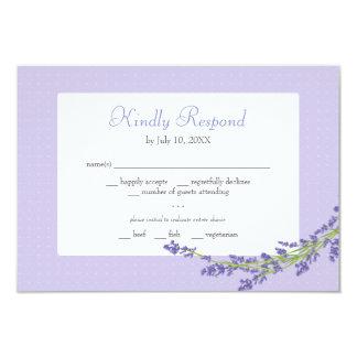 Hübsch in lila Wedding | reagieren Karte
