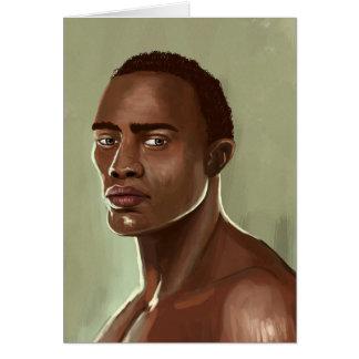 Hübsche afrikanische Mann Karte