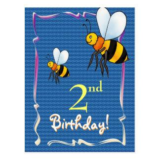 Hübsche alles Gute zum Geburtstagpostkarte mit Postkarte