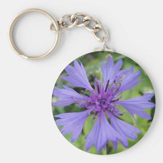 Hübsche blaue Kornblume Schlüsselanhänger