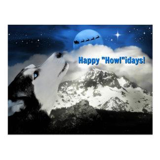 Hübsche blaue mit Augen heisere glückliche Postkarte