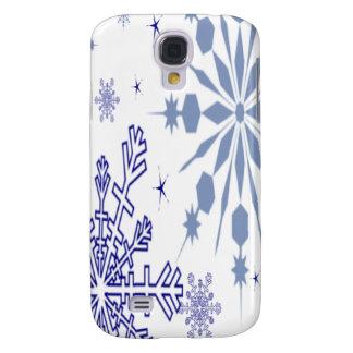 Hübsche blaue Schneeflocken Galaxy S4 Hülle