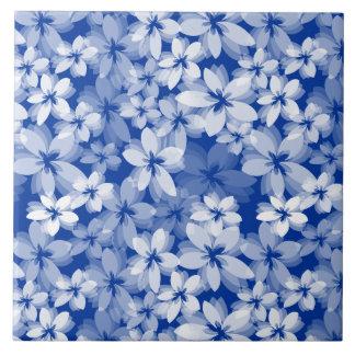 Hübsche Blumen Große Quadratische Fliese