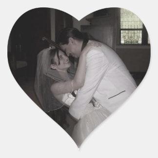 hübsche Hochzeit Herz-Aufkleber