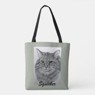 Hübsche Katze Squeeker Tasche