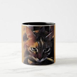 Hübsche Kitty-Katzen-Tasse Zweifarbige Tasse