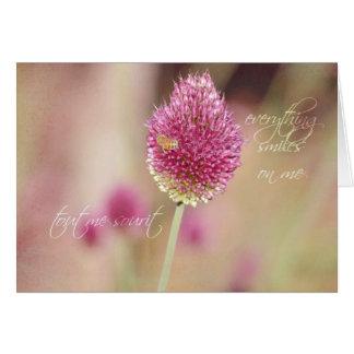 Hübsche Klee-Blume Karte