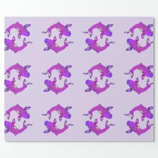 Hübsche lila Fisch-Fische Geschenkpapier