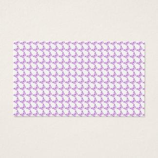Hübsche lila Schmerz-Bewusstseins-Schmetterlinge Visitenkarte