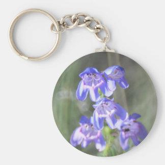 Hübsche lila Wildblumen Standard Runder Schlüsselanhänger