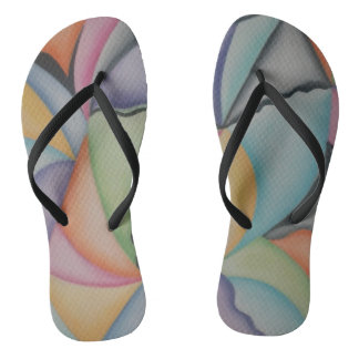 Hübsche Pastellformen drehen Reinfälle um Flip Flops